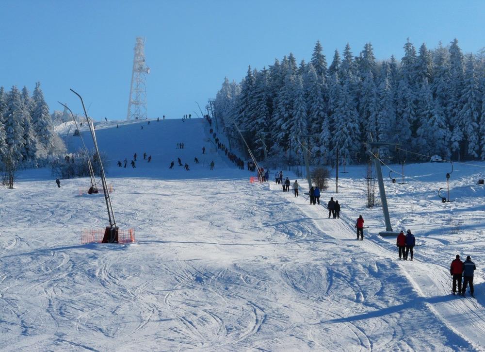 Lyžování ve Ski areálu Čenkovice
